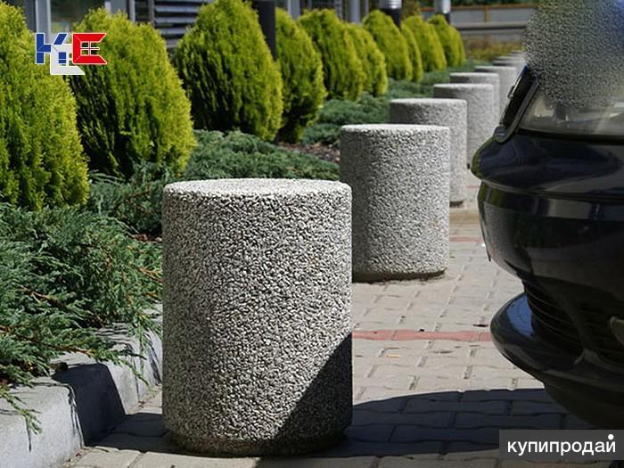 загрожения бетонные тумба