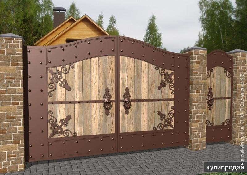 заборы деревянные красивые и ворота