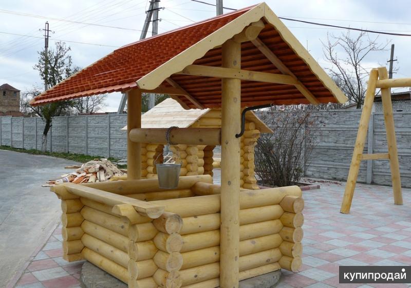 деревянный домик для колодца зависимости тканей