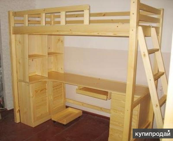 двухъярусная кровать со столом своими руками