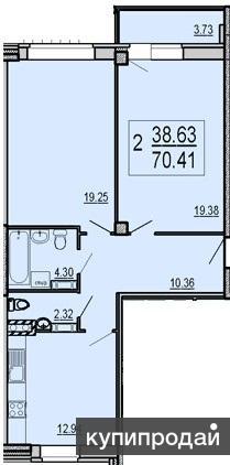 Продаётся просторная двухкомнатная квартира на улице Чернопрудная дом 17