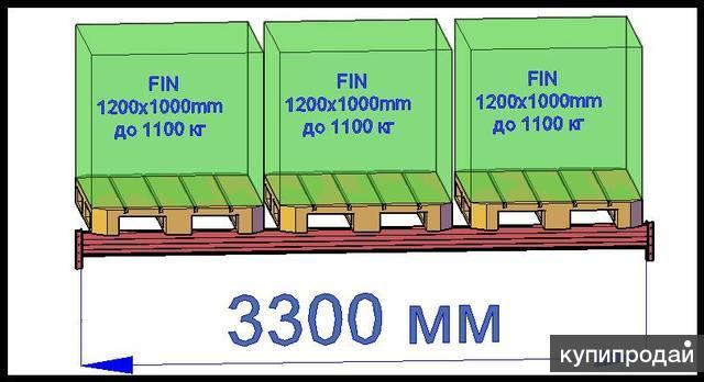 Балка для паллетного фронтального стеллажа П.3300.160.15