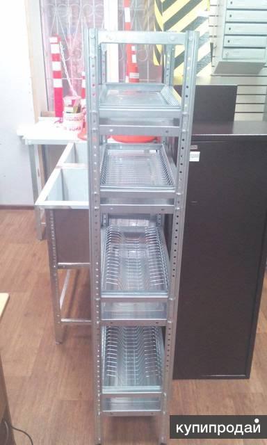Стеллаж для сушки посуды (ВхШхГ,мм): 1600х900х300.