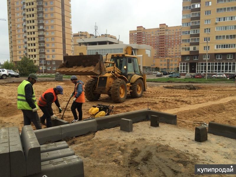 Устройство основания из песка