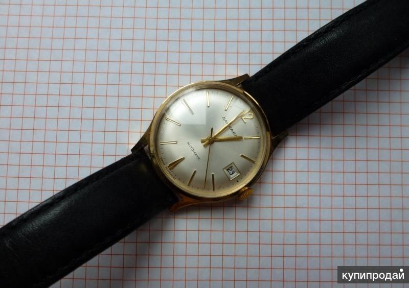 Наручные муж. золотые часы Garrard (Великобритания)