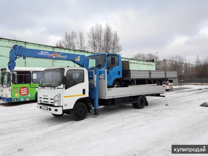 Isuzu Elf 7 тонн Манипулятор эвакуатор