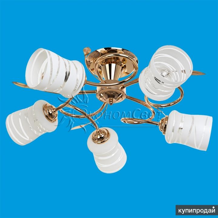 Золотая люстра на 5 ламп Л-62