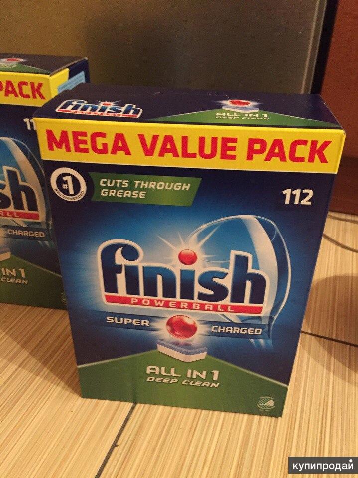 Таблетки для посудомойки Finish, 112 штук