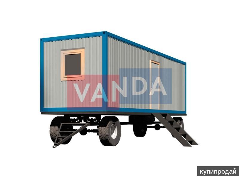 Двухкомнатный блок контейнер на шасси 8х2,45м