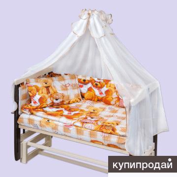 """Комплект в кроватку из 7 предметов """"Теремок"""""""