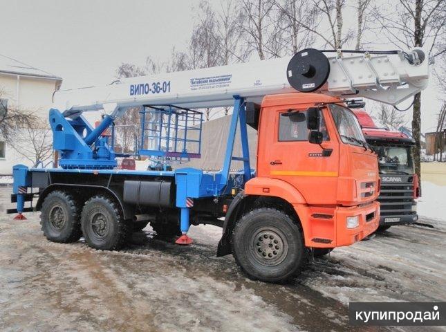 Автогидроподъемник ВИПО-36-01 на шасси КАМАЗ-43118 (6х6)