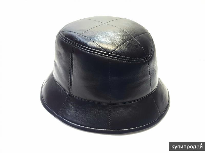 Панама шляпа зимняя натуральная кожа мужская