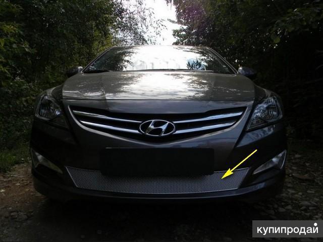 Защита радиатора Hyundai Solaris 2014-17