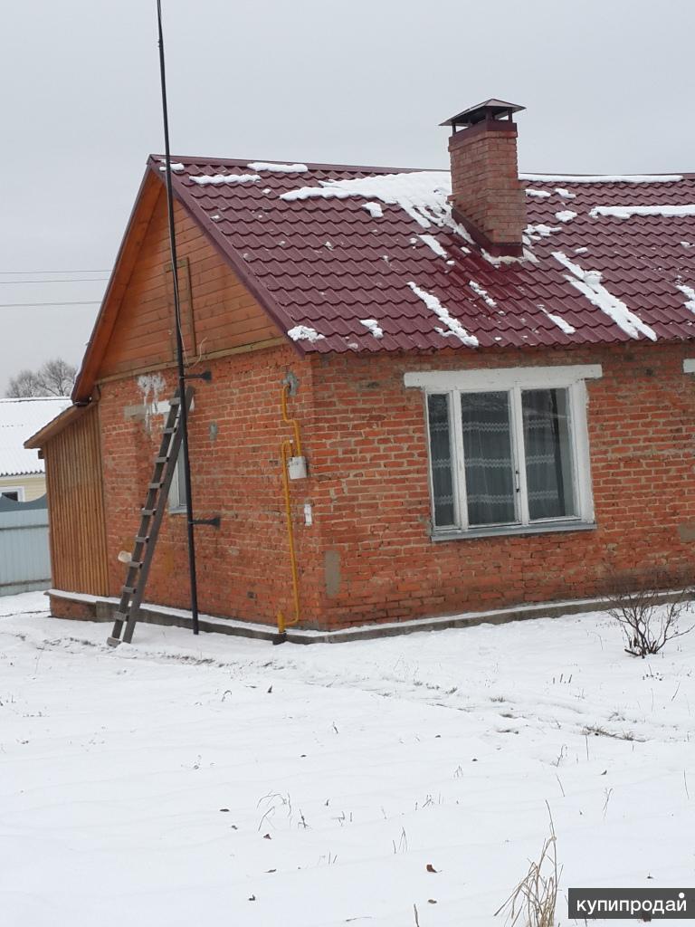 Продается  ½ часть жилого кирпичного дома  со всеми коммуникациями Чехов, с. Стр