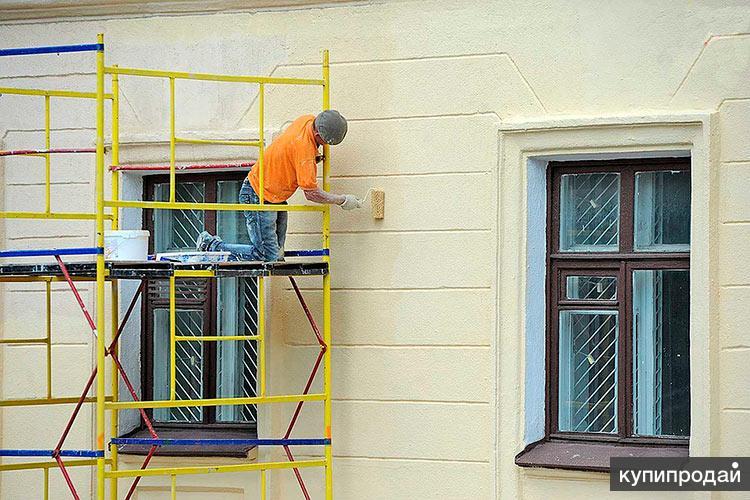 Покраска фасада дома, здания