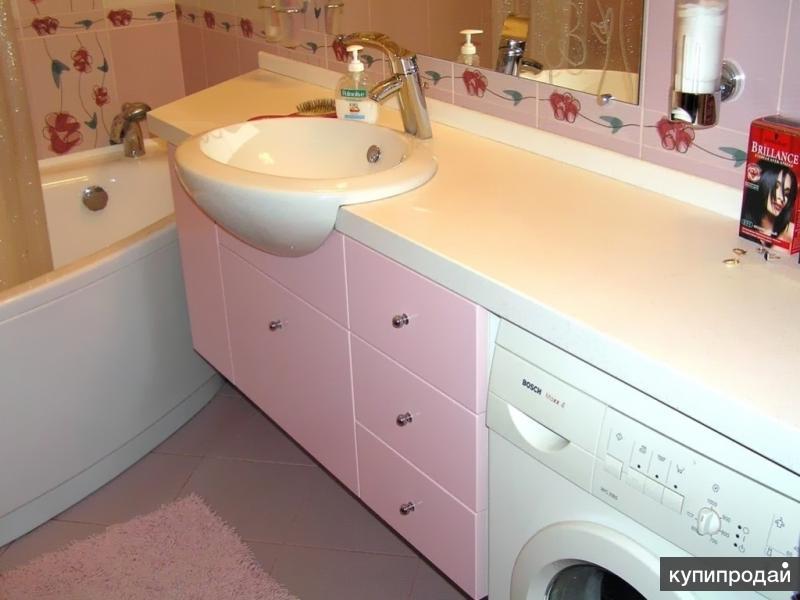 Комплект для ванной шкаф с врезной раковиной