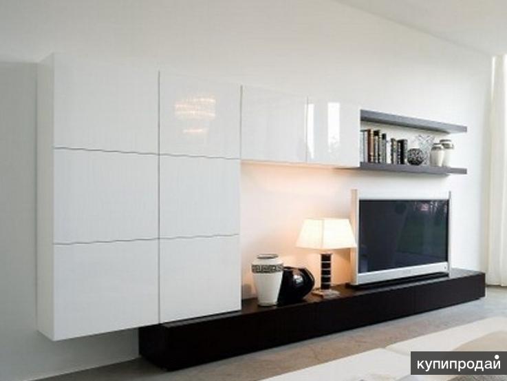 Комплект мебели для гостиной (тумба под телевизор, полки, шкафы)
