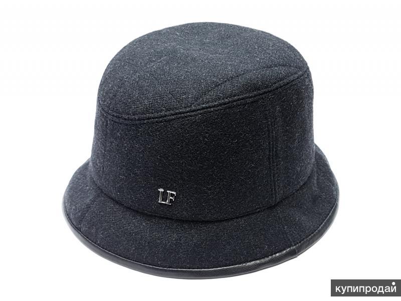 Шляпа панама мужская шерстяная LF (т.серый)