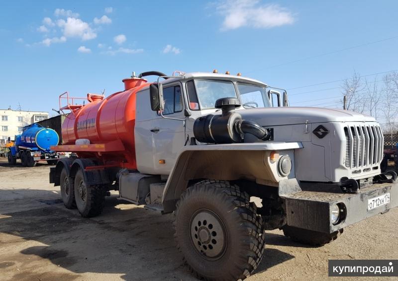 Вакуумная машина Урал 4320 автоцистерна ВМ 10