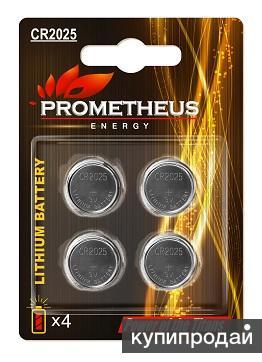 """Элемент питания CR2025-BL4, """"Prometheus energy"""", напряжение - 3 V, литиевая бата"""
