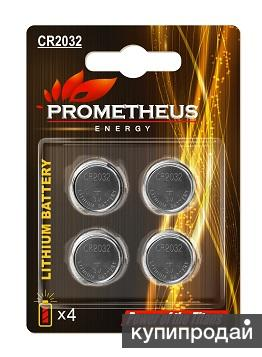 """Элемент питания CR2032-BL4, """"Prometheus energy"""", напряжение - 3 V, литиевая бата"""