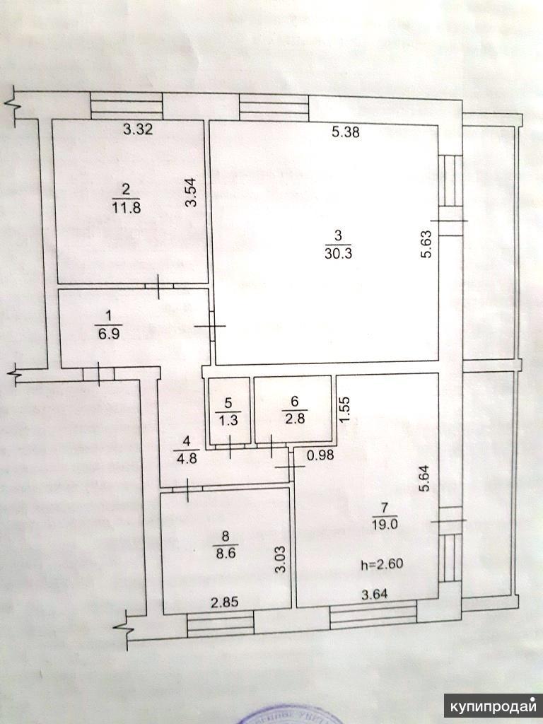 3-к квартира, 86 м2, 2/2 эт.