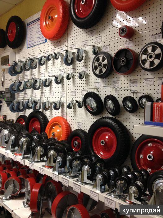 широкий выбор колес и колесных опор для тележек платформенных, тележек гидравлич