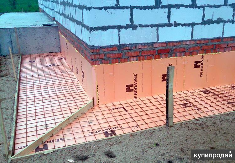 утеплённая бетонная отмостка