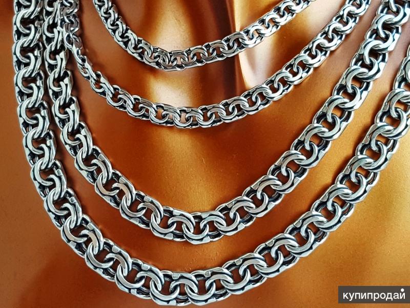 Цепи серебряные Кайзер, новые