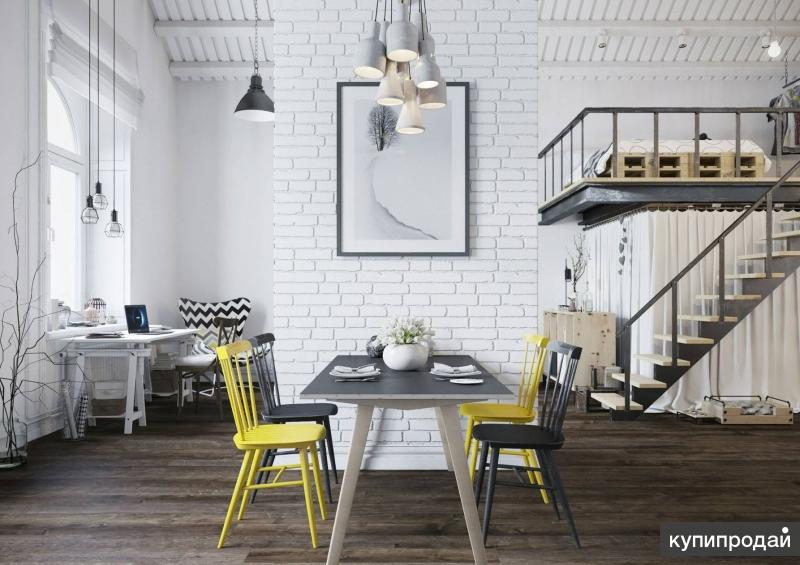 Дизайнерский интерьер в стиле ЛОФТ