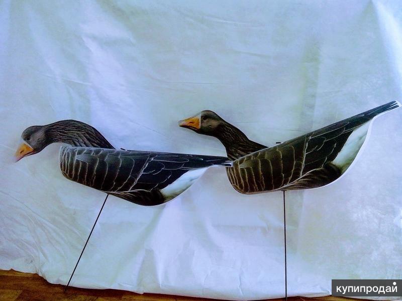 Фотореалистичное чучело-флюгер гуся белолобого