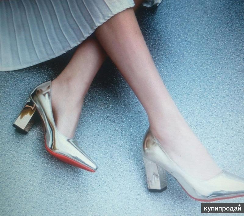 туфли женские под золото