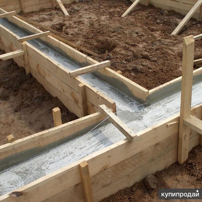 Строительство фундаментов ,отмосток