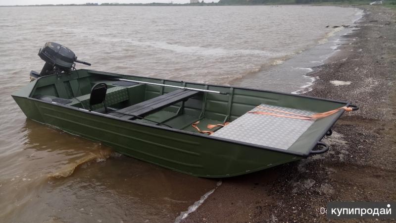 Лодка плоскодонка алюминиевая