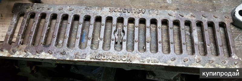 Решётка водоприёмная дренажная DN100 ВЧ-50 щелевая чугунная