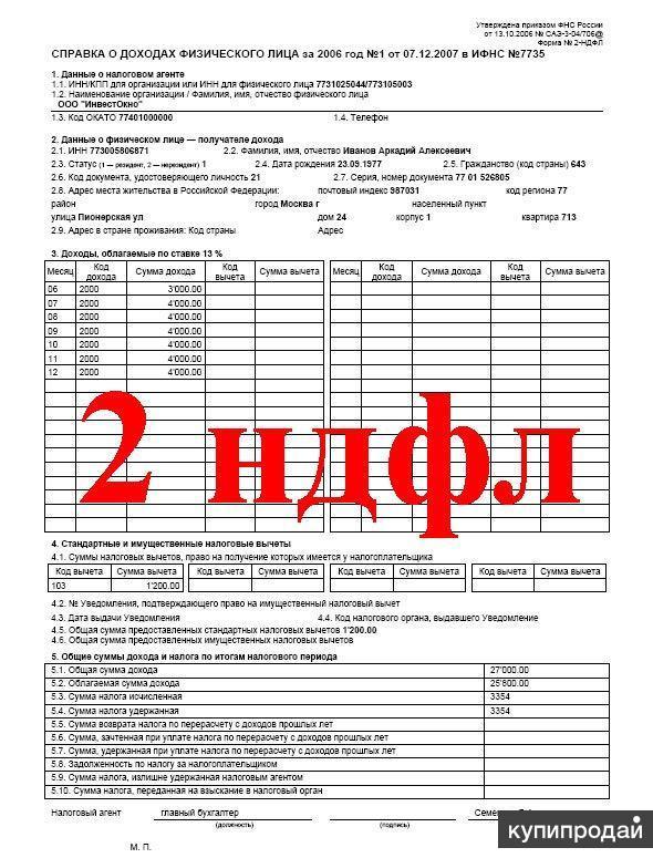 Купить справку 2 ндфл и другие справки для кредита сзи 6 получить Екатерины Будановой улица