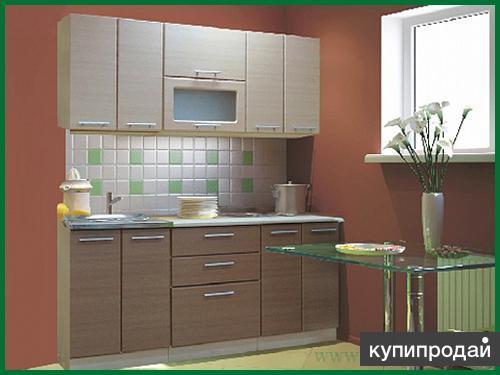 "Кухонный гарнитур ""люкс""лен светлый, лен темный"