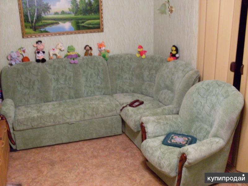 Продам уговой диван с креслом,срочно