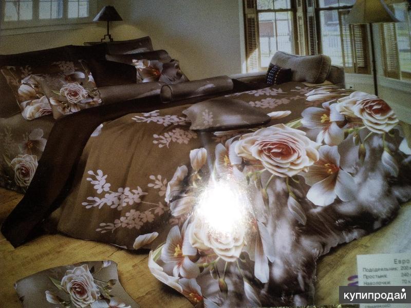 2-ух спальное постельное бельё. 7D и 5D турецкий стиль.