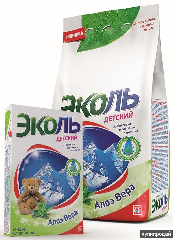 """Стиральный порошок """"Эколь"""" 450 гр, 2,4 кг, 20 кг."""
