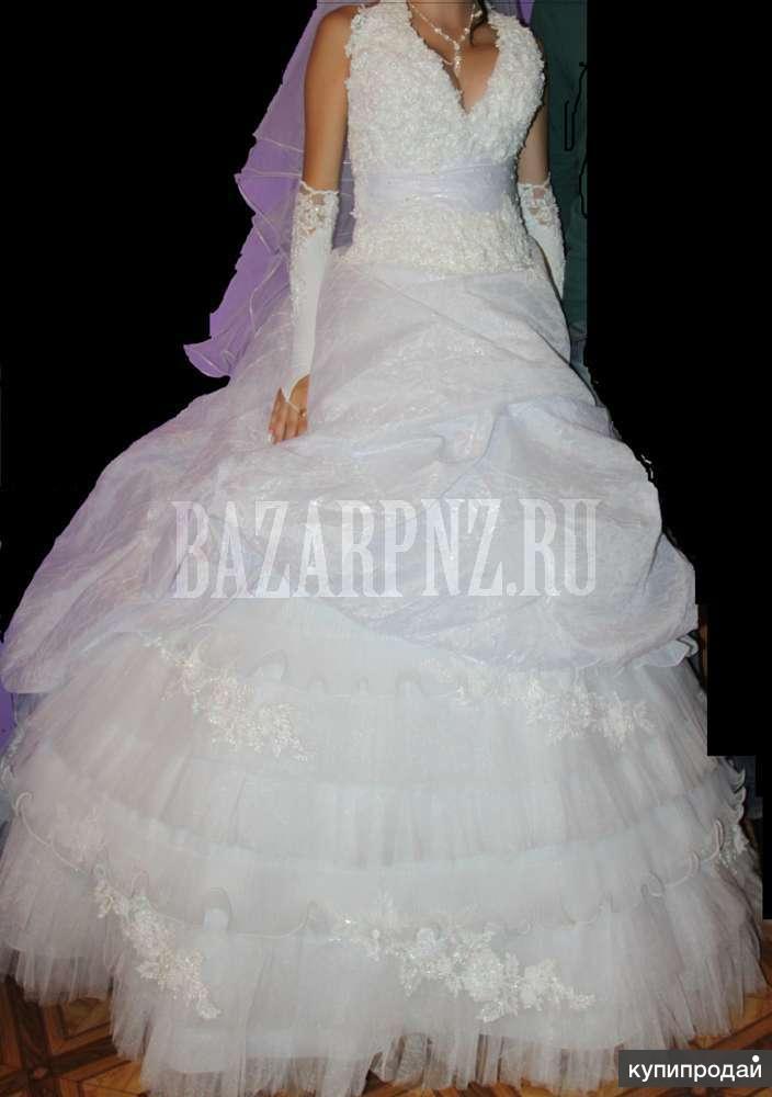 продам дешево пышное свадебное платье