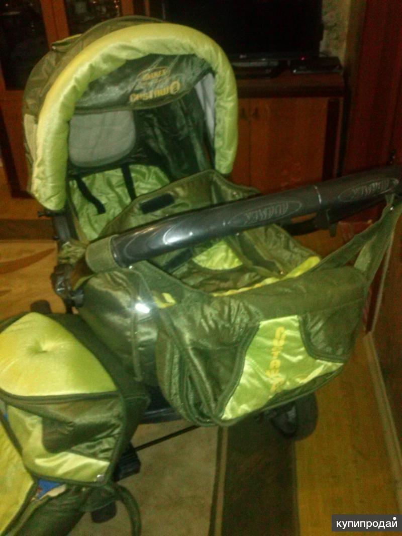 Детская коляска 2 в 1 зеленая