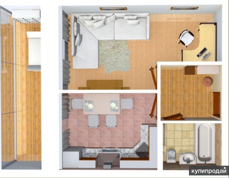 1 комнатная квартира в новом строящемся доме. Сдача дома 4 квартал 2016 года.