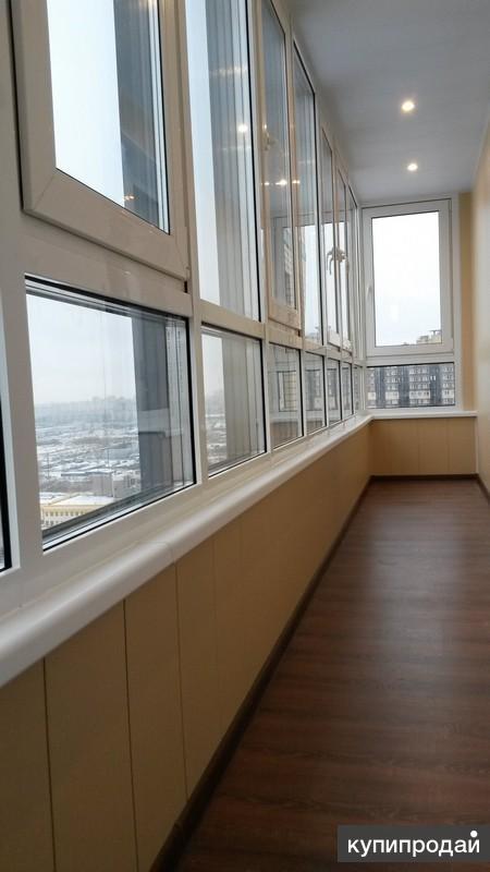 "Остекление лоджии и балкона на 10 % ниже рынка ""под ключ"". с."