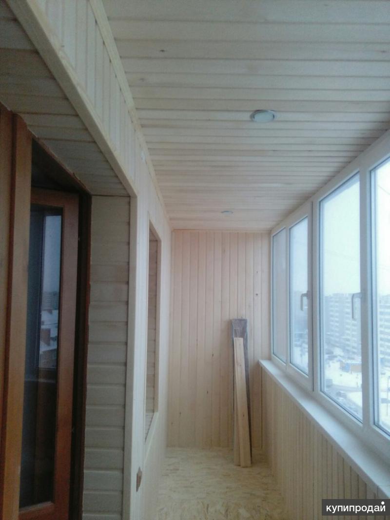 Отделка балконов, лоджий. санкт-петербург.