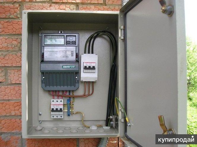 Установка электрических счётчиков