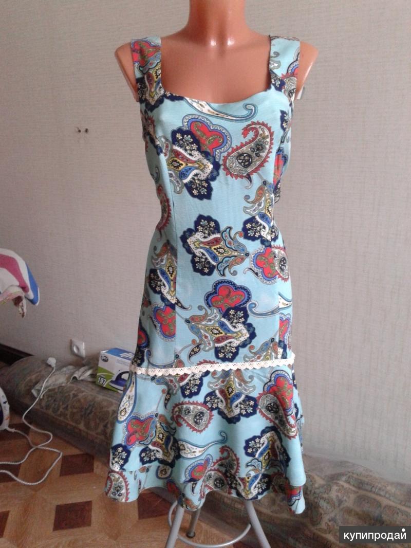 Платье ситцевое