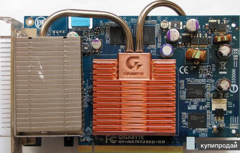 Gigabyte GeForce 7600 GT 560Mhz PCI-E 256Mb 1400Mh
