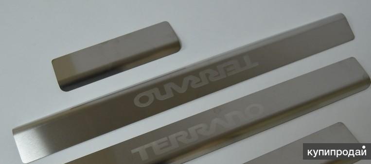 Накладки на пороги для Nissan Terrano (2014-)