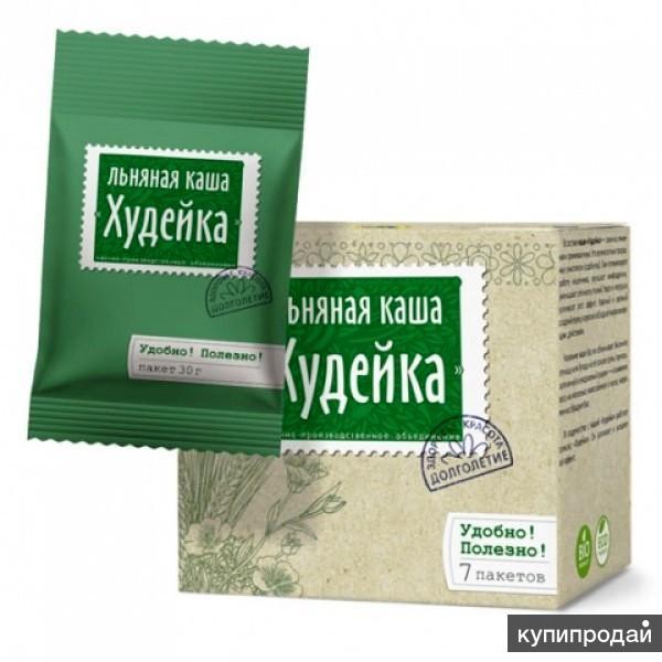 """Каша """"Худейка"""" льняная, 210 гр. (7 пакетиков по 30 гр.), Компас здоровья"""